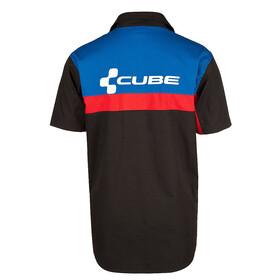 Cube Arbeitshemd Men kurzarm schwarz/blau/rot